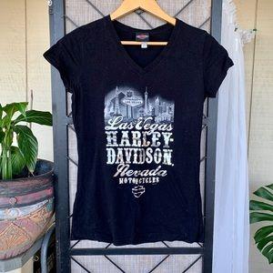 Harley Davidson Las Vegas Black T Shirt Medium